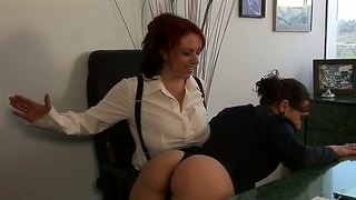 Kylie ireland and sinn sage hot lesbian fuck in office