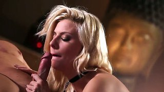 Blonde and superb jessie volt pleases her man with amazing hardcore deep fucking