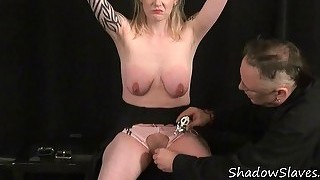 Blonde amateur slave weekays intense bdsm and puss