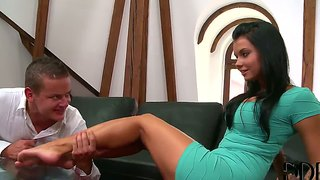 Feet worship for luscious victoria blaze