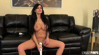 Busty brunette cougar angelina valentine lets the vibrator do all the work